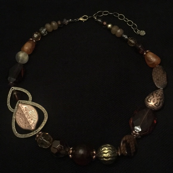 Ruby Rd. Jewelry - Ruby Rd Brown Decorative Beaded Necklace